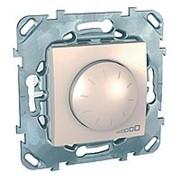 Светорегулятор поворотно-нажимной 40-400Вт/ВА (R+RL) слон кость UNICA фото