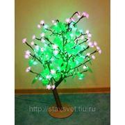 Куст 224 светодиода, CBL Table NEW LED 12W, син/роз. цветы зел. листья 24V 0.8*0.8м фото
