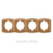 Рамка 501 228 Zirve (белый) 4 Артикул 25.241 фото