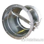 Заслонка воздушная РК с ручным приводом на фланцах РК-300 круглые фото