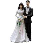 Свадебная фигурка для торта Молодожены 11см фото