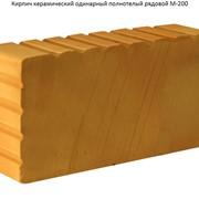 Кирпич керамический одинарный полнотелый рядовой М-200 фото