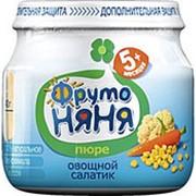 Пюре ФРУТОНЯНЯ цветная капуста/кукуруза/морковь, 80г (упаковка 6 шт) фото