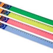 Линейка 40 см цветная флюо лн51 фото