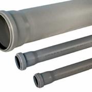 Труба внутренней канализации ПВХ Ø110 длина 1000 фото
