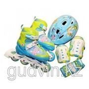 Набор: роликовые коньки, защита, шлем; размер 30-33, TM Лунтик фото