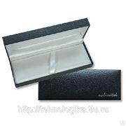 150501 Коробка для 1 авторучки , черная, кожзам. Нанесение логотипа. фото