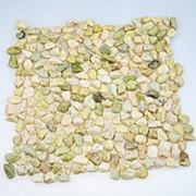 Каменная мозаика MS5007 ГАЛЬКА крупная зелёная фото