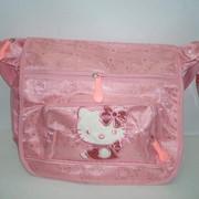 """Сумочка и ранец детский """"Hello Kitty"""" из ткани. фото"""