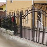 Ворота с ковкой и металлом №10 фото