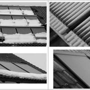 Гелиосистемы на базе вакуумных и плоских солнечных коллекторов для подогрева горячей воды. фото