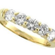 Кольцо золотое с бриллиантами SI1/G 0.75Ct фото
