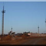 Монтаж громоотводных осветительных мачт на территории нефтепровода фото