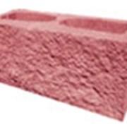 Декоративный блок красный фото