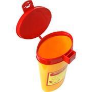 Емкость-контейнер для сбора острого инструментария, объем 0,6 л. фото
