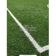 Строительство футбольного поля с искусственным покрытием (штучне покриття) фото