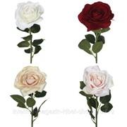Цветок искусственный Роза, L14 W14 H67 см, (4 вида - не набор) фото