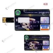Супер тонкая флешка в виде кредитной карты VISA (4GB) фото