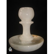 Подсвечник из оникса на 1 свечку (9 см.) фото