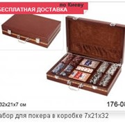 Набор для покера в коробке фото