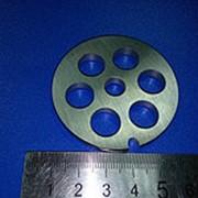 1032.0 Решетка #5 для мясорубки Bosch, Braun, Zelmer, Аксион, Бриз и др.(D-53,5/8мм, раб. отв. 12мм, паз, нерж) фото