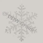 Декор Снежинка акрил прозрачная д 25см фото