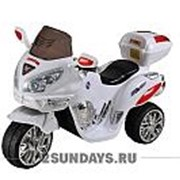 Детский электромотоцикл МОТО HJ 9888 белый