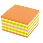 Блок-кубик самоклеящийся Kores , 75х75мм, 450л, 4цв. неон, `48465 фото