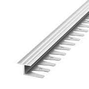 Профиль гнущийся анод. алюм. 10 мм 2,5 м серебро (ПК15-2500-01л) фото