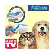 Щетка-триммер с само очисткой Pet Zoom (Пет Зум) для кошек и собак фото