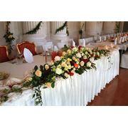 Оформление свадьбы цветами. фото
