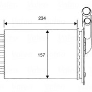 Радиатор печки Renault R19, Clio, Kangoo, Megane - D6R001TT / 43006048 / NRF 58836 фото