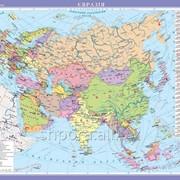 Євразія. Політична карта, м-б 1:10 000 000 фото