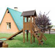 Строительство деревянных детских площадок в Молдове фото