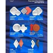 Пластмассовые формы тротуарной плитки фото