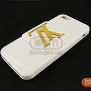 Накладка iPhone 5S LV (гелевый с подставкой) белый 73084d фото