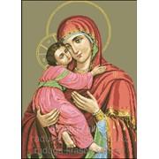 Картина стразами Икона - Владимирская Богородица 53х72 см фото