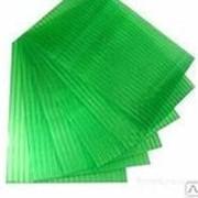Поликарбонат сотовый 6 мм зелёный 12 м х 2,1 м фото