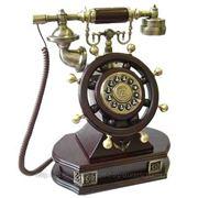 """Телефон-ретро """"Штурвал"""" 25*15*35см (уп.1/4шт.) фото"""