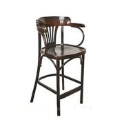 Барный деревянный венский стул-кресло Аполло с жестким сидением фото