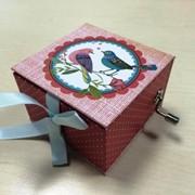 Коробка Stewo Music box Best Fr, 2 дизайна, 7.5 х 7.5 х 5 см Птицы фото