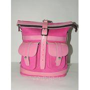 Сумка-рюкзак из натуральной кожи «Нежность» фото