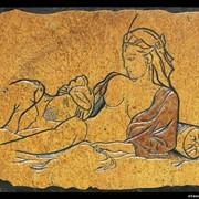 Гравюра на камне Девушка с мужчиной Рубан фото
