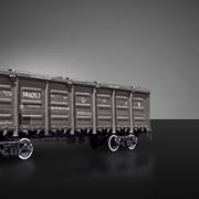Полувагон со съемной крышей для перевозки грузов, требующих укрытия от атмосферных осадков 12-146, Полувагоны грузовые железнодорожные фото