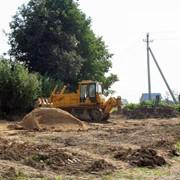 Расчистка территории под строительство. фото