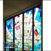 Услуги декоративной обработки стекла фото