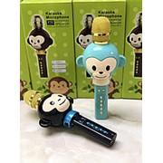 Беспроводной караоке микрофон для детей KT01 с функцией изменения голоса (Синий) фото