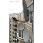 Монтаж спутниковых и эфирных антенных систем фото