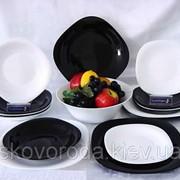 Столовый сервиз Luminarc Carine White&Black D2381 (19 предметов) фото