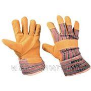 0320 Перчатки спилковые комбинированные (желтые)
